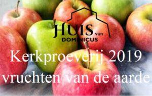 Foto flyer Kerkproeveij in Huis van Dominicus met sappige appels