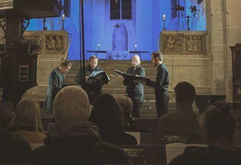 Foto concert ensemble in de Utrechtse Pieterskerk