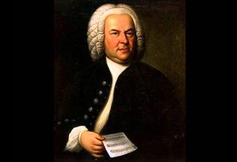 Schilderij met portret J.S. Bach