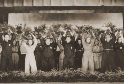 Foto optreden joodse musici in Tweede Wereldoorlog